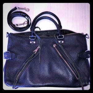 Rebecca Minkoff Moon Leather Moto Satchel 🌚✨